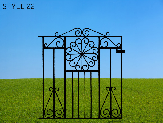 wrought iron gates 22