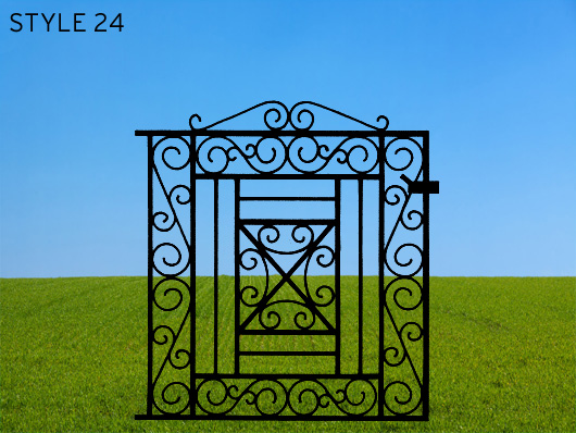 wrought iron gates 24