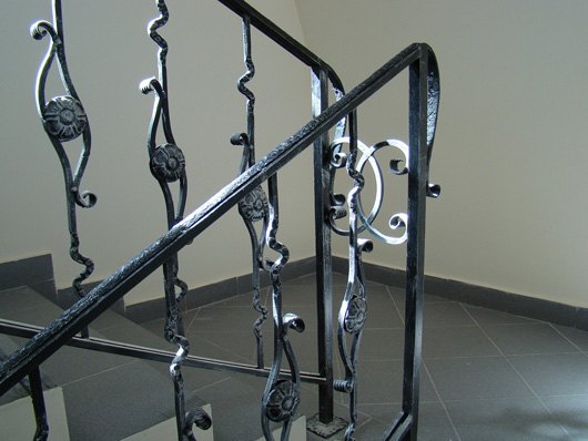 wrought iron bannisters